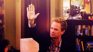 Barney Stinson. I wrote 61k words for NaNoWriMo. Can I get a high five ...