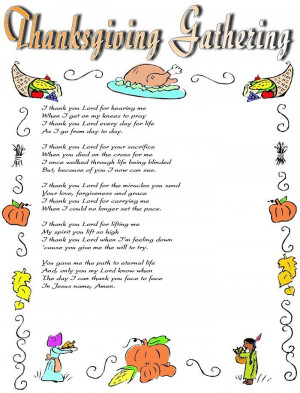 Best Christian Thanksgiving 2014 Poems For Kindergarten
