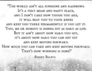 Rocky Balboa quote on life