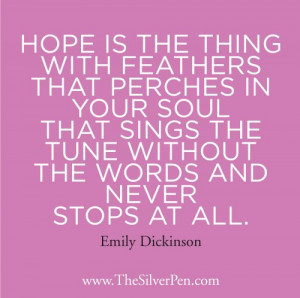 Emily Dickinson Quotes About Hope. QuotesGram