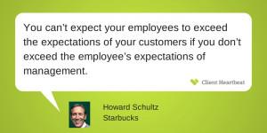 howard schultz customer satisfaction quotes