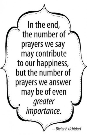 Answered prayers are wonderful blessings... but being the answer to ...
