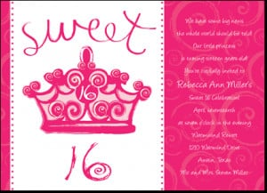 Home / Pretty in Princess Sweet 16 Birthday Party Invitations