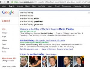 What Does Google Think of Martin O'Malley?