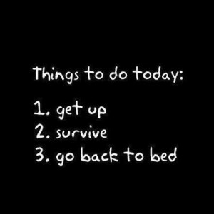 Go back to bed funny quote