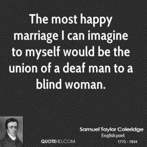 Samuel Taylor Coleridge Marriage Quotes