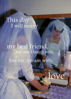 The Bride Quote Photograph