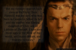 Elrond, The Fellowship of the Ring, Book II, The Council of Elrond