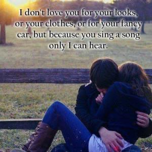 Romantic love quote for couple wallpaper