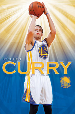 Stephen Curry Superstar Golden State Warriors NBA Action Poster ...