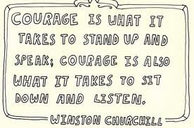 choosing to listen instead of speaking, simply because listening ...