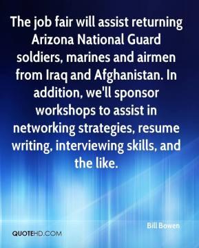 Bill Bowen - The job fair will assist returning Arizona National Guard ...