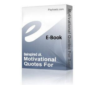 Home eBooks Self Help Motivational Quotes For Successful Men & Women