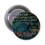Literature Quotes Love Poetry Shakespeare Dark Pinback Buttons