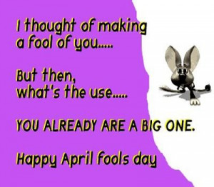 Funny april fool picture messages