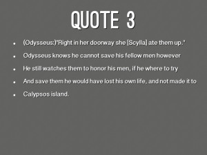 The Odyssey Book 3 12. quote 3