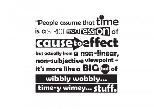 Dr Who Time Quote Sticker is one of the most famous and quirky quotes ...