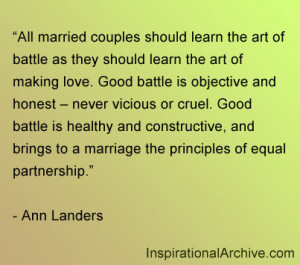 All married couples should learn the art of battle as they should ...