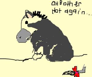 Eeyore loses his tail (again)