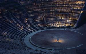 Classical drama at Epidavros theatre, Greece