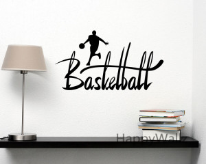 Basketball Quotes Sports Motivational Quote Wall Sticker DIY ...