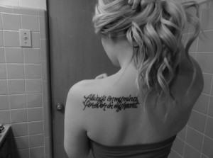 Quotes Tattoo Always on my Mind, Forever in my Heart