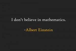 Einstein-Math-Quote