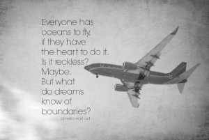 ... Quote Pilot Flyer Air Force Sky Black White Reckless Dreams Boundaries
