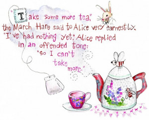 Cute Alice in Wonderland quote.