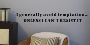 Avoid Temptation - Wall Decals