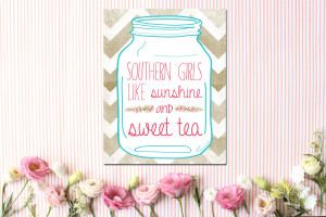 Southern Raised Quotes Pink southern girls like