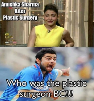 What are some funny Anushka Sharma jokes/memes?