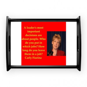 ... Gifts > 2016 Kitchen & Entertaining > carly fiorina quote Coffee Tray