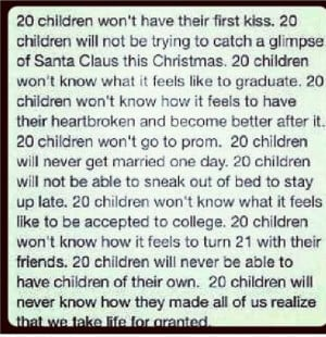 Dont take your life for granted