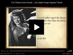 Wonderful little video of quotes from inspirational women. Worth a ...