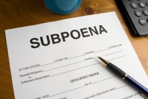 subpoena/ get ready because yours is coming home wrecker.