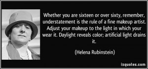 understatement is the rule of a fine makeup artist. Adjust your makeup ...