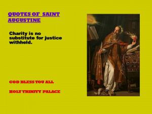 QUOTES OF SAINT AUGUSTINE - 12-08-2012
