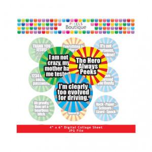 Funny Sayings The Big Bang Theory Digital Collage Sheet (No. 072) - 1 ...