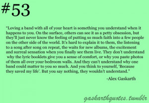 Alex Gaskarth Quotes About Bands