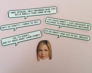 Rachel Green Quotes Sticker Set