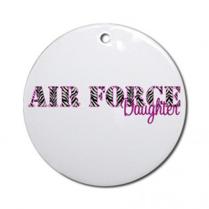 Air Force Zebra Daughter Ornament (Round)