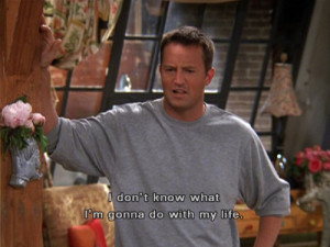 ... don't know, idk, life, lost, matthew perry, quote, screen, tv show