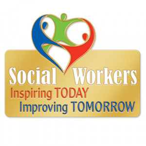 Social Workers Inspiring TODAY Improving TOMORROW Lapel Pin With ...