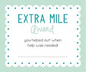 Extra Mile award http://sugarfreshdesigns.blogspot.com/2013/07/young ...
