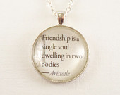 Friendship is a Single Soul Dwelling in Two Bodies, Aristotle, Inspira ...