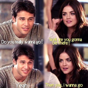 Ryan Guzman (Jake) & Lucy Hale (Aria Montgomery) - Pretty Little Liars