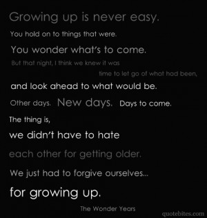 wonder years quotes