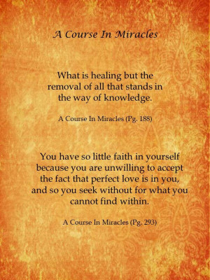 Quotes From A Course In Miracles
