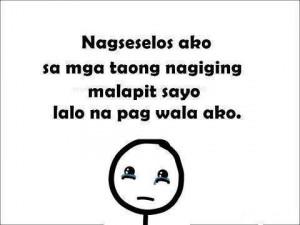 ... selos quotes, english tagalog selos quotes, malungkot tagalog quotes